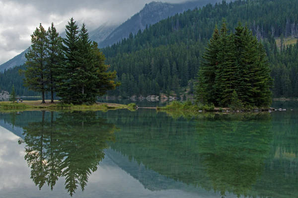 Photograph - Reflections At Two Jack Lake by Darlene Bushue