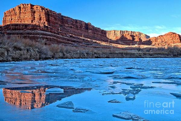 Photograph - Reflections Between The Ice by Adam Jewell
