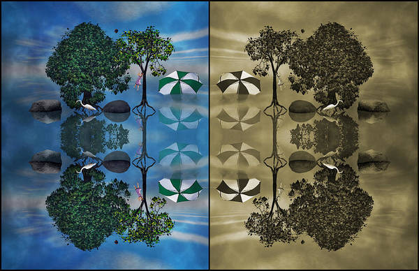 Perspective Digital Art - Reflections by Betsy Knapp