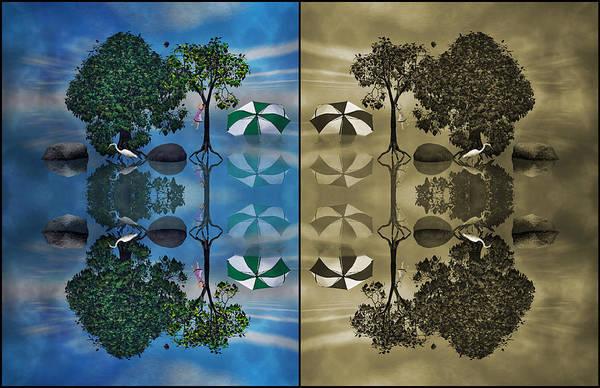 Egret Digital Art - Reflections by Betsy Knapp