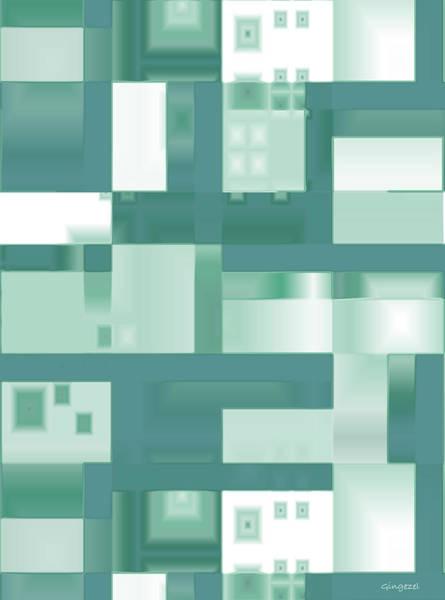 Digital Art - Reflections In Green by Judi Suni Hall