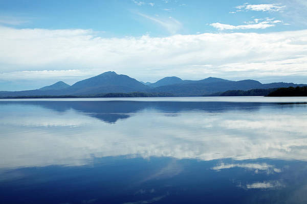 Franklin Park Photograph - Reflections In Macquarie Harbour Near by David Wall Photo