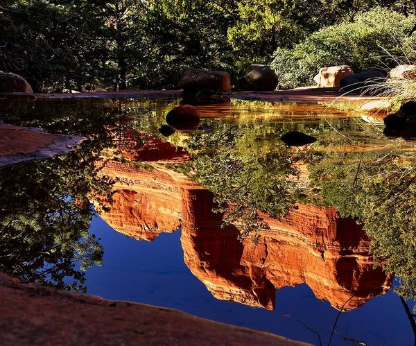 Photograph - Reflections In Sedona by Walt Sterneman
