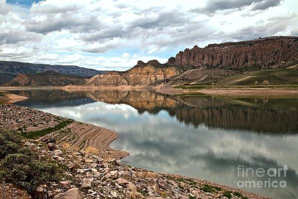 Photograph - Reflections In The Blue Mesa by Adam Jewell