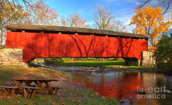 Photograph - Reflections In The Conestoga River by Adam Jewell