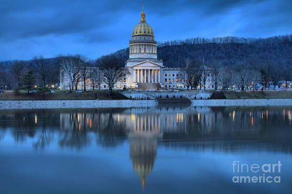 Photograph - Reflections In The Kanawha River by Adam Jewell