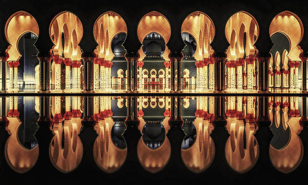 Wall Art - Photograph - Reflections In The Mosque by Massimo Cuomo