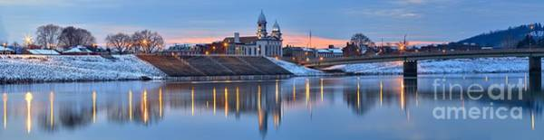 Photograph - Reflections In The Susquehanna River At Lock Haven by Adam Jewell