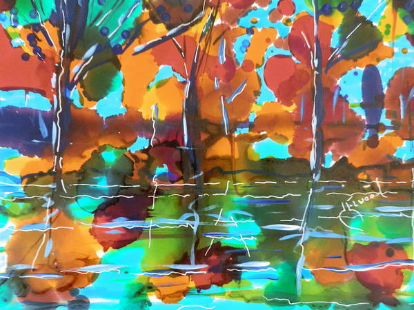 Elwood Blues Painting - Reflections by Jann Elwood