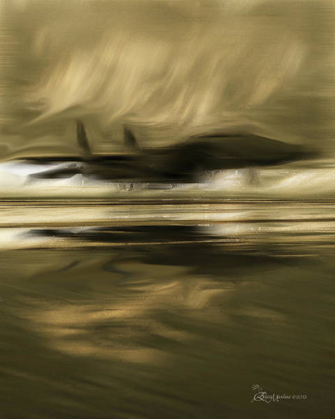 Photograph - Reflections Of A Fighter Jet-featured In Visions Of The Night-digital Veil-spectacularartwork Groups by Ericamaxine Price