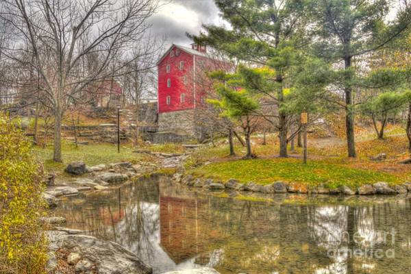 Photograph - Reflections Of An Ole Red Mill by Jim Lepard