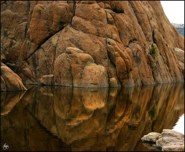 Photograph - Reflections Of Dells Monolith by Wayne King