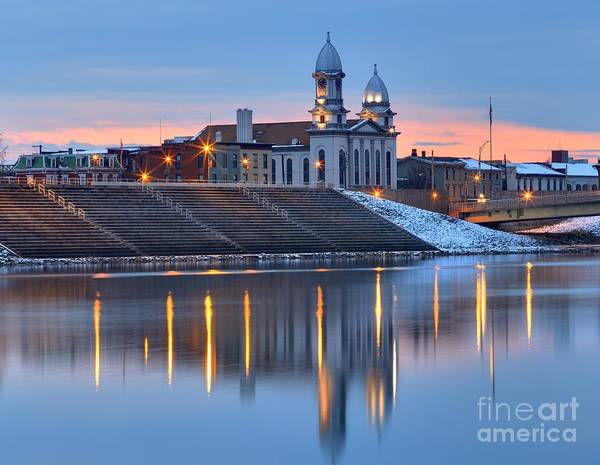 Photograph - Reflections Of The Clinton County Courthouse by Adam Jewell