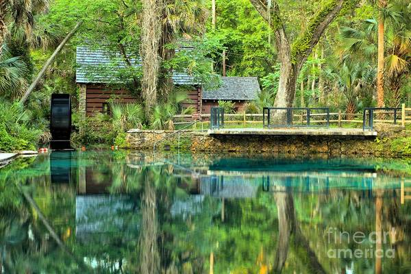 Photograph - Reflections Of The Juniper Springs Mill House by Adam Jewell