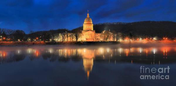 Photograph - Reflections Of The West Virginia State Capitol by Adam Jewell