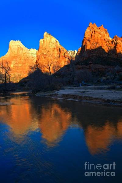 Photograph - Reflections Of The Zion Patriarchs by Adam Jewell