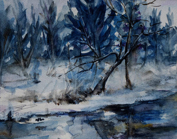 Painting - Reflections Of Winter by Xueling Zou
