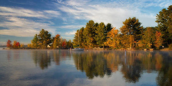 Reflections On Long Lake Art Print