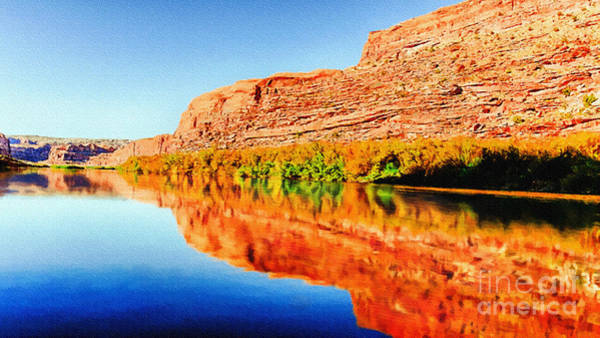 Painting - Reflections On The Colorado River by Bob and Nadine Johnston