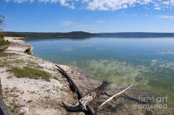Photograph - Reflections On Yellowstone Lake by Brenda Kean
