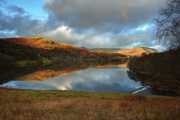 Grasmere Wall Art - Photograph - Reflections Over Lake Grasmere by Allan Gray