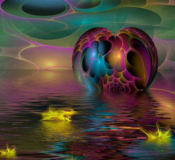 Fractal Landscape Digital Art - Reflections by Phil Sadler