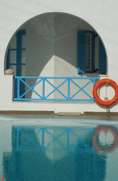 Photograph - Reflections Santorini Island by Colette V Hera  Guggenheim
