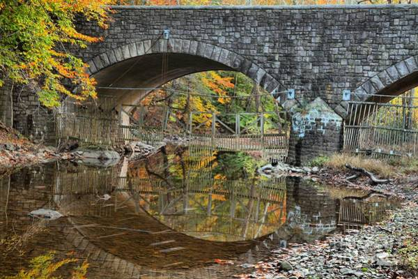 Photograph - Reflections Under A Stone Bridge  by Adam Jewell