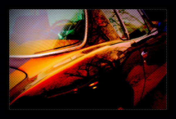 Clear Coat Wall Art - Photograph - Reflective Chrome Comic Book Sports Car by Rosemarie E Seppala