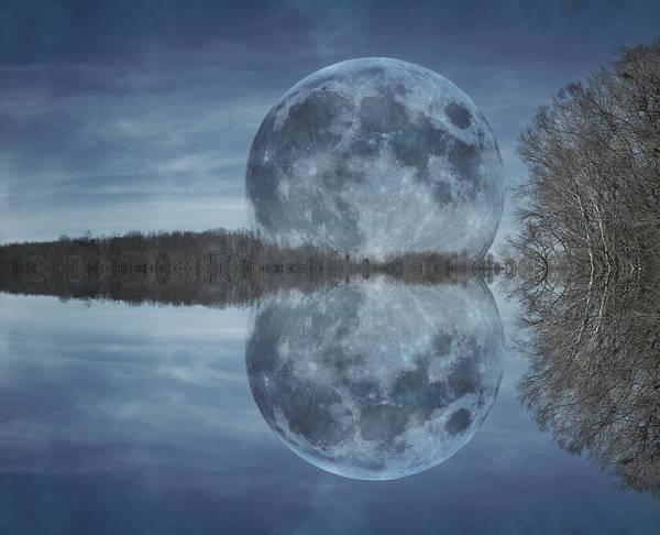 Moonscape Photograph - Reflective Paradise by Betsy Knapp