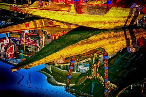 Dal Lake Photograph - Reflective Pause by Deepak Bhatia