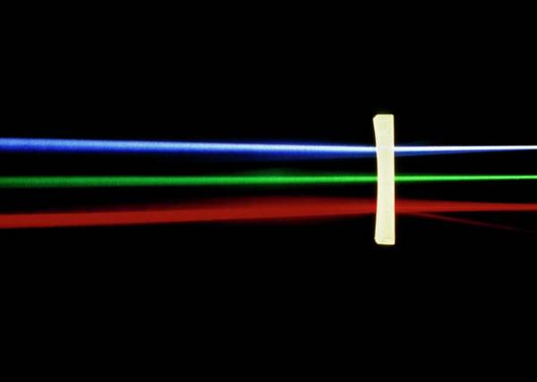 Refraction Wall Art - Photograph - Refraction Of Light By Plano-concave Lens by David Parker/science Photo Library