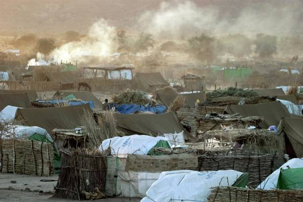 Campsite Wall Art - Photograph - Refugee Camp by Peter Menzel/science Photo Library