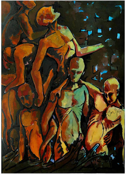 Kannan Painting - Refugee by Sooraj Kannan