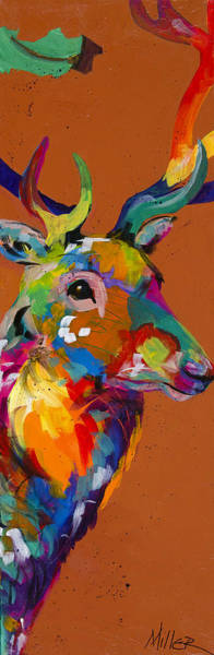 Colorado Wildlife Wall Art - Painting - Regal Stare by Tracy Miller
