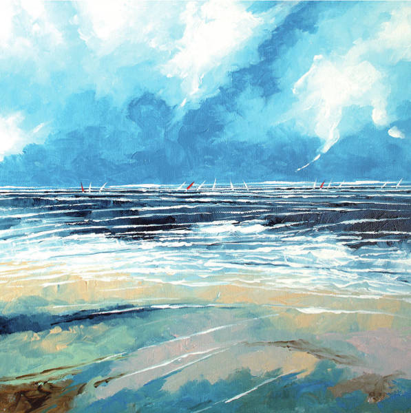 Skyscape Painting - Regatta 1 by Stuart Roy
