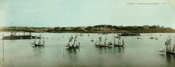 Wall Art - Photograph - Regatta Day At Dinard, Brittany, France by Mary Evans Picture Library