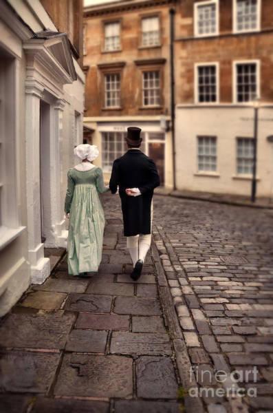 Wall Art - Photograph - Regency Couple Walking In Town by Jill Battaglia