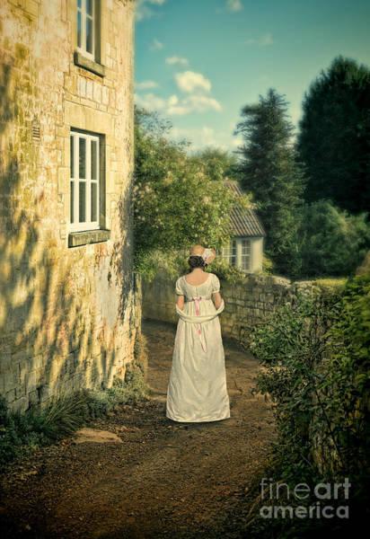 Wall Art - Photograph - Regency Lady Walking By Country House by Jill Battaglia