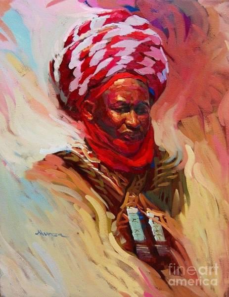 Nigeria Painting - Regent  by Dhlimi Munza