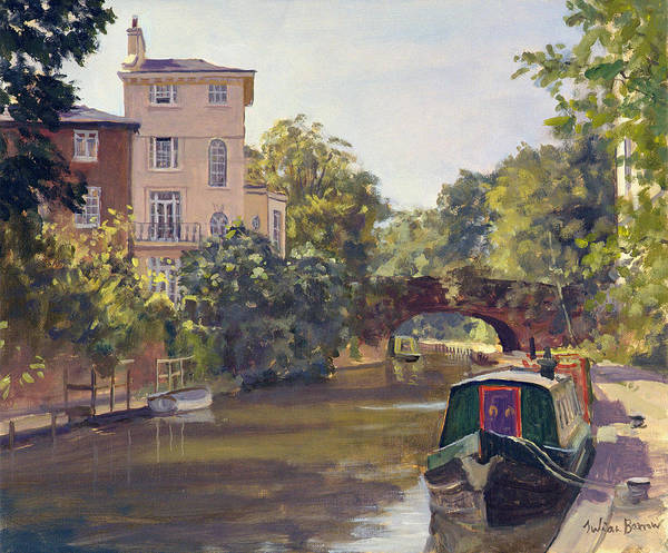 Moor Painting - Regent S Park Canal by Julian Barrow