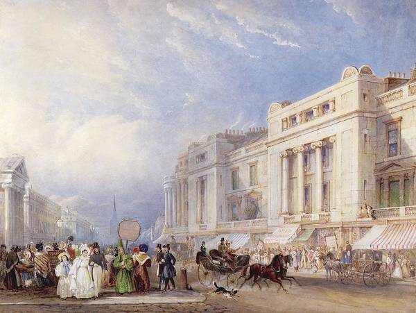Carriages Painting - Regent Street, London, Looking North by George Sidney Shepherd