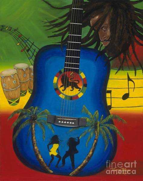 Conga Drum Painting - Reggae Fest by Viveca Mays