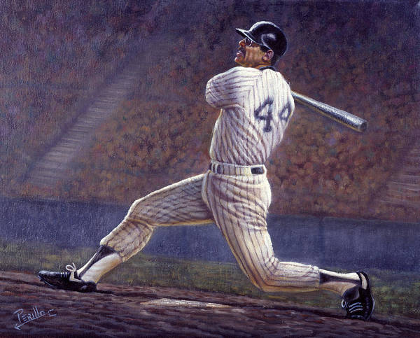 Bomber Painting - Reggie Jackson by Gregory Perillo