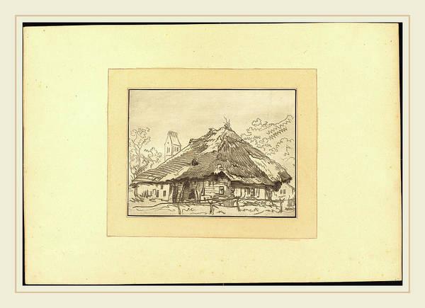Stipple Drawing - Regina Katharina Quarry After Franz Schutz German by Litz Collection