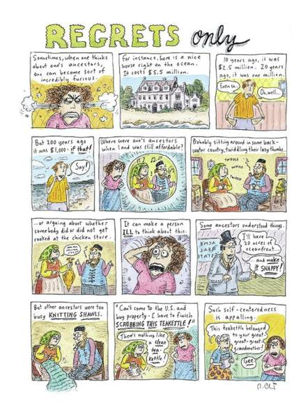 2004 Drawing - Regrets Only by Roz Chast