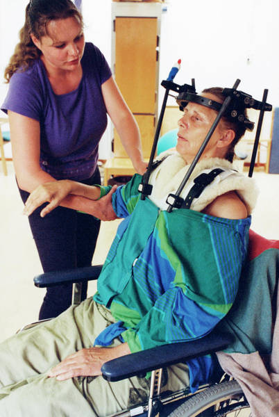 Neck Brace Photograph - Rehabilitation Therapy by Henny Allis/science Photo Library