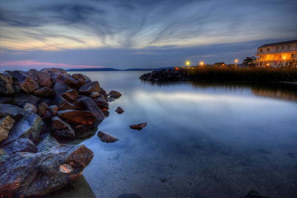 Photograph - Rehoboth Bay Sunset At Dewey Beach by David Dufresne