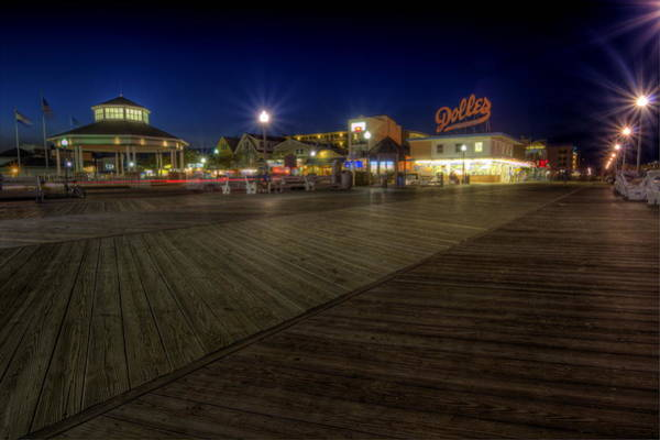 Photograph - Rehoboth Beach Boardwalk At Night by David Dufresne