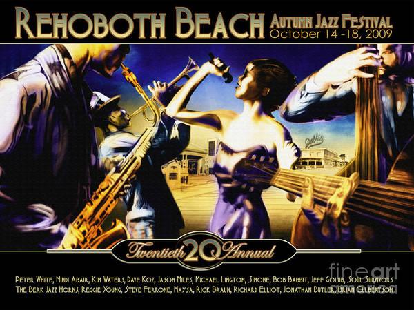 Wall Art - Digital Art - Rehoboth Beach Jazz Fest 2009 by Mike Massengale